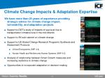 climate change impacts adaptation expertise