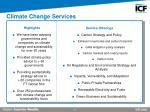 climate change services