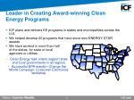 leader in creating award winning clean energy programs
