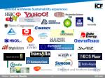 selected worldwide sustainability experience