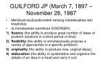 guilford jp march 7 1897 november 26 1987