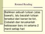 rotated reading