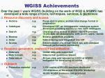 wgiss achievements