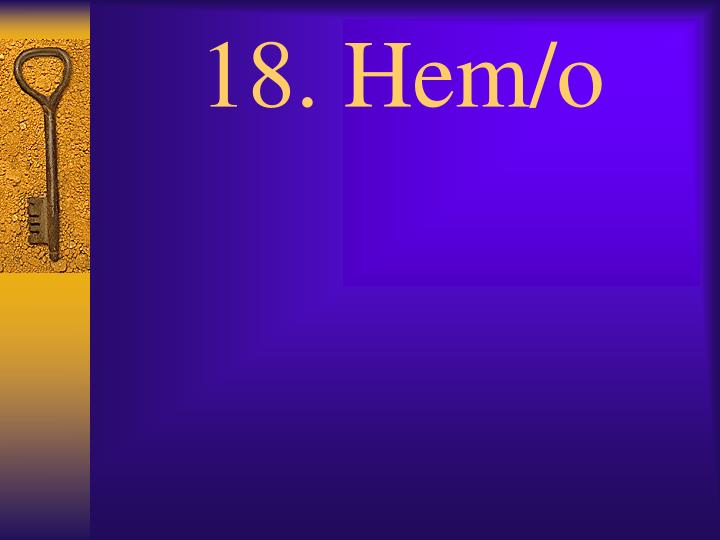 18. Hem/o