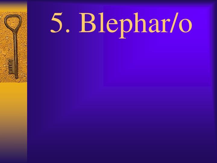 5. Blephar/o