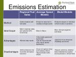 emissions estimation