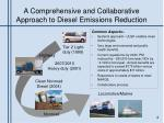 a comprehensive and collaborative approach to diesel emissions reduction