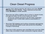 clean diesel progress