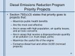 diesel emissions reduction program priority projects