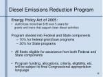 diesel emissions reduction program