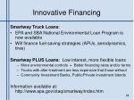 innovative financing