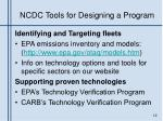 ncdc tools for designing a program