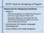ncdc tools for designing a program1