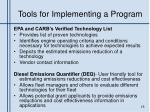 tools for implementing a program1