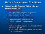 british government traditions
