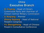 china executive branch