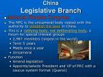 china legislative branch