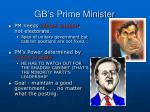 gb s prime minister