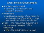 great britain government
