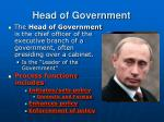 head of government
