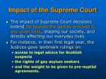 impact of the supreme court