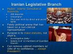 iranian legislative branch