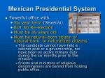 mexican presidential system