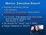 mexico executive branch