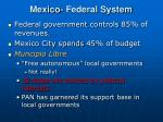 mexico federal system