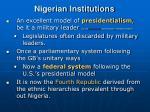 nigerian institutions