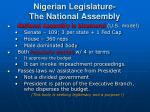 nigerian legislature the national assembly