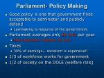 parliament policy making