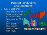 political institutions and structures