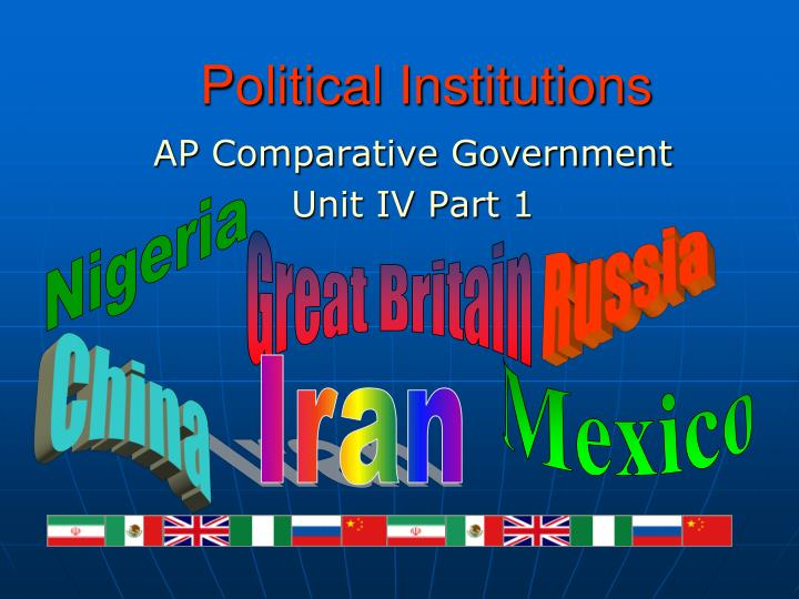 political institutions n.