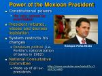 power of the mexican president