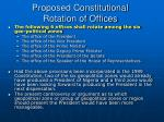 proposed constitutional rotation of offices