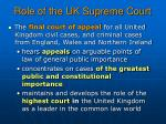 role of the uk supreme court