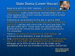 state duma lower house