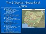 the 6 nigerian geopolitical zones