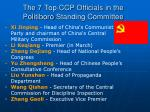 the 7 top ccp officials in the politiboro standing committee