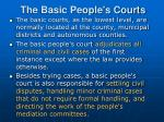 the basic people s courts