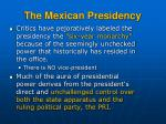 the mexican presidency