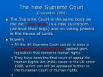 the new supreme court created in 2009