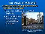 the power of whitehall