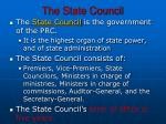 the state council