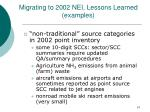 migrating to 2002 nei lessons learned examples