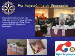fon kayna m z ve sponsorlar