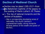 decline of medieval church