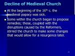 decline of medieval church17