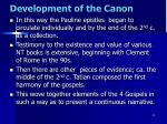 development of the canon3